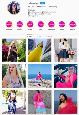 Babs Steger Instagram Profil
